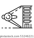 Building high measurement icon, outline style 53246221