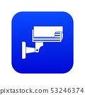 Surveillance camera icon digital blue 53246374