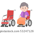 坐在輪椅上 53247126