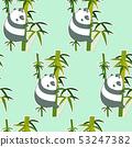 Seamless panda on bamboo pattern. 53247382