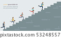 Business people climbing high stair. 53248557