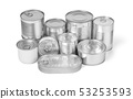 collection of cans isolated on a white background 53253593