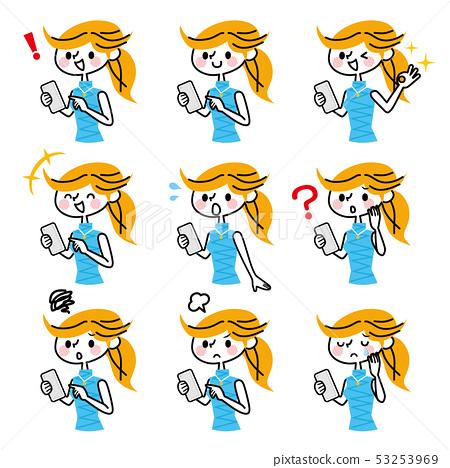 Smartphone female set 53253969