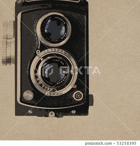 배경 - 카메라 - 복고풍 53258395