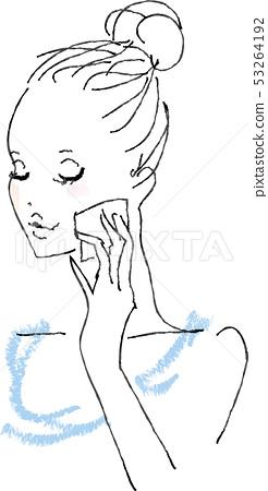 護膚品女性 53264192