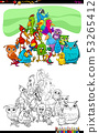 birds animal characters group color book 53265412