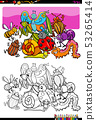 insects and bugs characters group color book 53265414