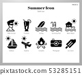 Summer icons Solid pack 53285151