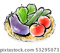 Brush painting food summer vegetables 53295073