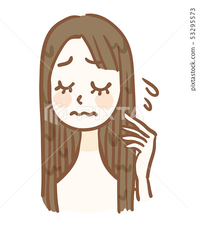 担心发粘的女人 53295573