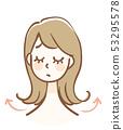 发型女人 53295578