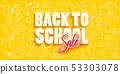 Back to school Sale with school objects 53303078