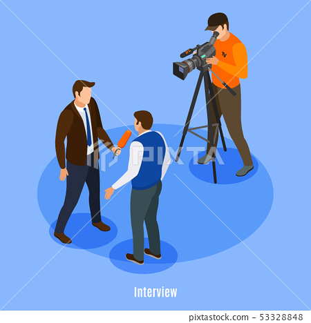 Interview Isometric Background 53328848