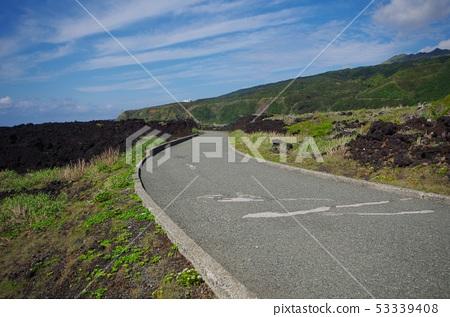 미야케 지마 용암과 도로 53339408