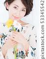 꽃 여성 인물 53345542