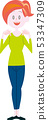 妇女身分姿势充分的身体 53347309