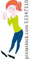 妇女身分姿势充分的身体 53347310