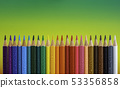 View of different colored crayons 53356858