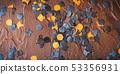 Halloween dark confetti background 53356931