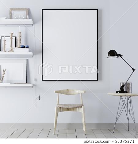 Mock up poster with vintage hipster minimalism 53375271