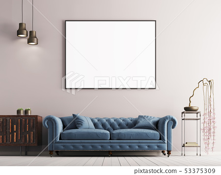 mock up poster in classical style interior with 53375309