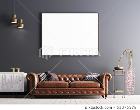 mock up poster in classical style interior with 53375578