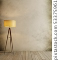 loft and vintage interior room, floor lamp on 53375961