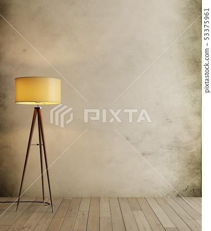 loft and vintage interior room, floor lamp on 53375961