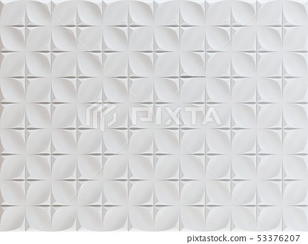White geometric background textures. Tile with 3d 53376207