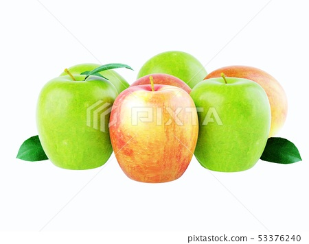 Multicolored apples of different varieties 53376240
