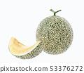 Cantaloupe melon isolated on white background 53376272