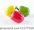 Fresh vegetables Three sweet Red, Yellow, Green 53377509