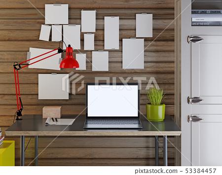 3d render of workspace mockup 53384457