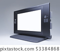 graphics tablet with mockup screen. 53384868