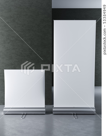 mock up poster stands for advertising display 53384949