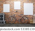 mock up poster and canvas in vintage hipster loft 53385139