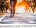 athlete running sport feet on trail healthy 53444378