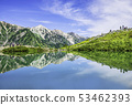 Reflection Happo pond northern Alps 53462393