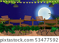 tables and chairs in the outdoor restaurant 53477592