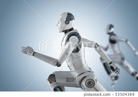 robot running with speed 53504369