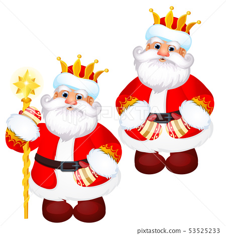 Funny Santa Claus In A Gold Royal Crown With A Stock Illustration 53525233 Pixta New users enjoy 60% off. pixta