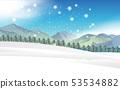 降雪 冬天 冬 53534882