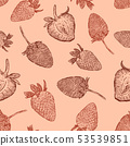 Strawberries seamless pattern. Vector 53539851