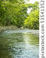 ศาลเจ้า Ise สีเขียวสดศาลเจ้า Isuzu แม่น้ำ Isuzu และ Midori Gauze ของ Uchinomiya 53541352