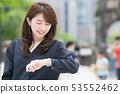 นักธุรกิจหญิงญี่ปุ่น 53552462