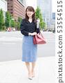 비즈니스 우먼 일본인 여성 도시 도시 건물 53554515