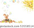 松鼠噴銀杏和肥皂泡 53558514
