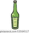 Illustration of a sake bottle 53564517