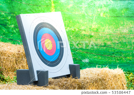 arrow target with hold at outdoor 53586447