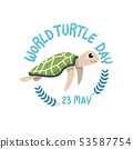 WORLD TURTLE DAY,May 23 with cute turtle 53587754